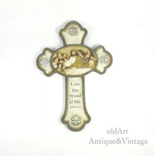 アメリカ製イエスキリスト十字架クロスカトリック壁掛けオブジェ置物【N-20124】