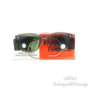 AmericanOpticalアメリカンオプティカルSAFETYヴィンテージ50'sメガネ眼鏡46ー24 Silvercolor【N-20125】