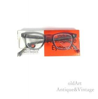 AmericanOpticalアメリカンオプティカルSAFETYヴィンテージ50'sメガネ眼鏡44ー20 Silvercolor【N-20126】
