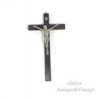 アメリカ製イエスキリスト十字架クロスカトリック壁掛けオブジェ置物【N-20135】