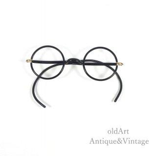 Bausch&LombボシュロムヴィンテージSQ Windsor20-30'sメガネ眼鏡38ー24【N-20137】