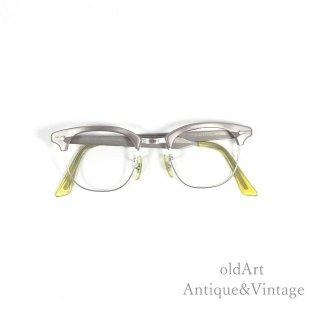 ShuronシュロンヴィンテージRONSIR ALUM50'sメガネ眼鏡5 3/4 46ー22【N-20138】