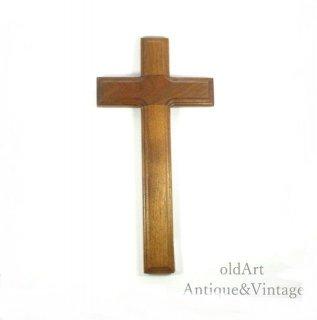 アメリカ製イエスキリスト十字架クロスカトリック木製壁掛けオブジェ置物【N-20146】