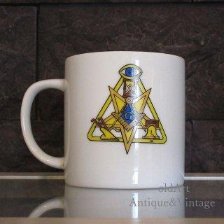 USAアメリカンヴィンテージフリーメイソンプロビデンスの目意匠陶器製マグカップ【N-20221】