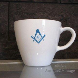 USAアメリカンヴィンテージフリーメイソン陶器製マグカップ【N-20222】
