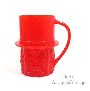 USA製1950年代アメリカンヴィンテージMr.PEANUTミスターピーナッツコップ・マグカップ【Red】【N-20248】