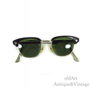 Bausch&LombボシュロムヴィンテージSAFETY50'sメガネ眼鏡44ー20【N-20261】