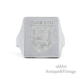 GERMANY製ヴィンテージドイツ都市ILMENAU紋章メンズリング指輪【22号】【N-20269】