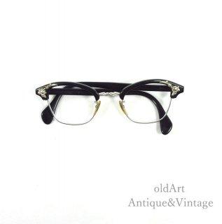AmericanOpticalアメリカンオプティカルヴィンテージ50'sメガネ眼鏡42ー22 Silvercolor【N-20276】