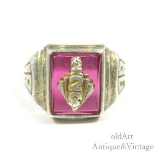 USA製1978年アメリカンヴィンテージ「29」スターリングシルバー製カレッジリング指輪【13.5号】【N-20287】