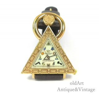 スイス製1960年代フリーメイソンWALTHAMウォルサムメンズ手巻き式腕時計三角形トライアングルウォッチ純正革ベルト【M-14812】【Special】