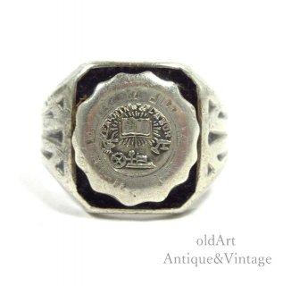 USA製ヴィンテージスターリングシルバー製オニキスリング指輪【16.5号】【N-20589】