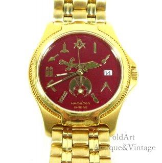 入手困難フリーメイソンシュライナーハミルトンHAMILTONクォーツ式会員限定メンズウォッチ腕時計【N-20599】