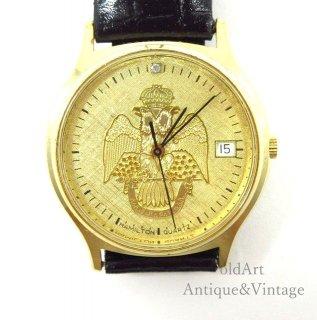貴重フリーメイソン33最高階位双頭鷲ハミルトンHAMILTONクォーツ式会員限定メンズウォッチ腕時計【N-20601】