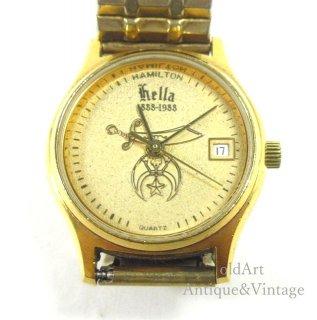 貴重フリーメイソンシュライナーハミルトンHAMILTONクォーツ式会員限定レディースウォッチ腕時計【N-20620】