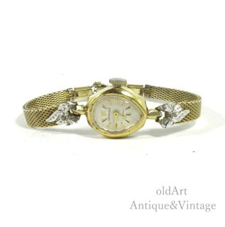 ビンテージ1940-60'sDOMINIQUEドミニク手巻き式レディース腕時計ウォッチアンティークウォッチ腕時計【N-20628】