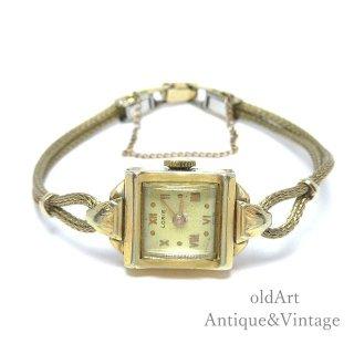 SWISS製1950年代ヴィンテージLORIE手巻き式10KGF金張りレディースドレスウォッチアンティーク腕時計【M-15123】