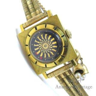 SWISS製ERNEST BORELアーネストボレル1950-70年代ヴィンテージ手巻き万華鏡文字盤レディースアンティーク腕時計【M-15125】