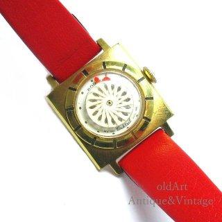 SWISS製ERNEST BORELアーネストボレル1950-70年代ヴィンテージ手巻き万華鏡文字盤レディースアンティーク腕時計【M-15126】