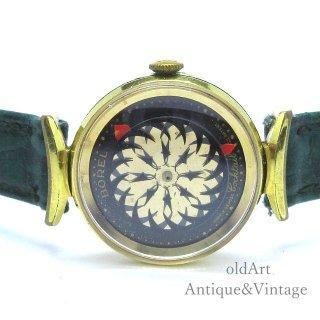 SWISS製ERNEST BORELアーネストボレル1950-70年代ヴィンテージ手巻き万華鏡文字盤裏スケルトンレディースアンティーク腕時計【M-15127】