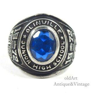 USA製1972年ヴィンテージREED&CO.NYC社製スターリングシルバー製メンズカレッジリング指輪【16号】【N-20711】