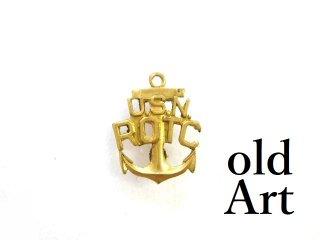 ヴィンテージUS.NAVY米海軍アンカー碇USN.ROTCミリタリーピンバッジ【M-13】