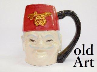 ビンテージフリーメイソンシュライナー人形マグカップ【M-738】