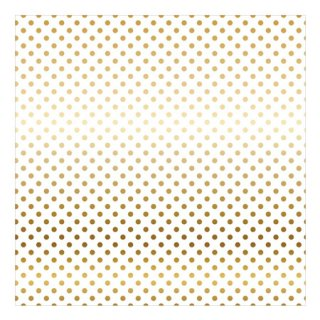 12インチペーパー | FOIL DOTS・GOLD/WHITE