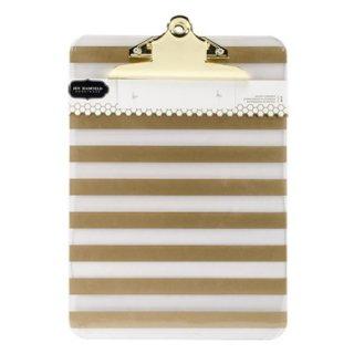 アクリル クリップボード Gold Foil Stripe
