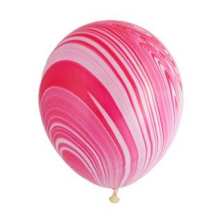 マーブルバルーン 5個入 | ピンク