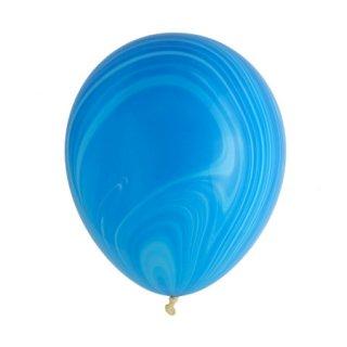 マーブルバルーン 5個入 | ブルー