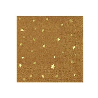 Meri Meri ペーパーナプキン (16枚入) | Kraft Star Small Napkin