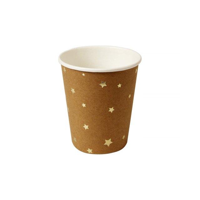 Meri Meri ペーパーカップ (8個入) | Kraft Star Cup