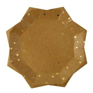 Meri Meri ペーパープレート (8枚入)   Kraft Star Plate Large