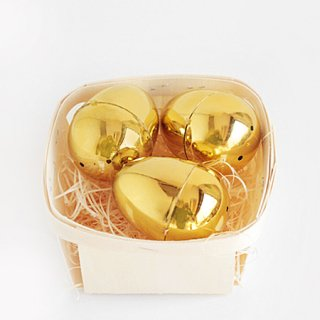 ミニイースターエッグケース 3個入 | Metallic Gold
