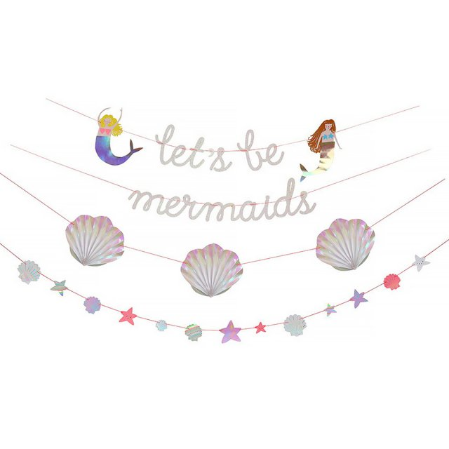 <img class='new_mark_img1' src='//img.shop-pro.jp/img/new/icons14.gif' style='border:none;display:inline;margin:0px;padding:0px;width:auto;' />Meri Meri Let's Be Mermaids Garland ガーランド
