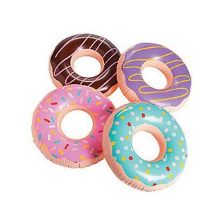 <img class='new_mark_img1' src='https://img.shop-pro.jp/img/new/icons20.gif' style='border:none;display:inline;margin:0px;padding:0px;width:auto;' />Inflatable Donuts 4個入