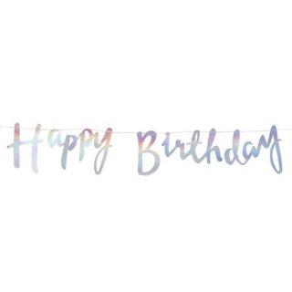 スクリプトガーランド Happy Birthday イリディセント - Ginger Ray