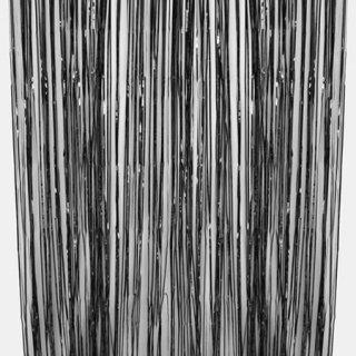 ブラック フォイル フリンジカーテン 91cmx245cm - Ginger Ray