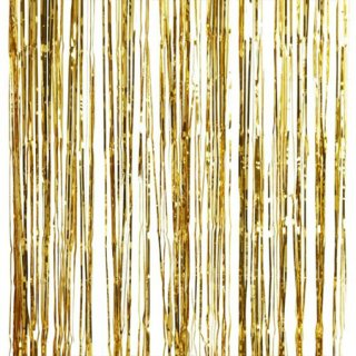 ゴールド フォイル フリンジカーテン 91cmx245cm - Ginger Ray