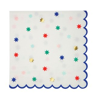 Meri Meri ペーパーナプキン (16枚入) | Nutcracker Star Pattern Napkins