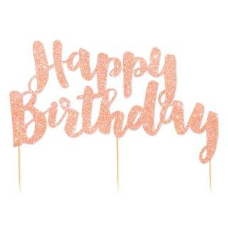 Happy Birthday ケーキトッパー ローズゴールド- illume party ware