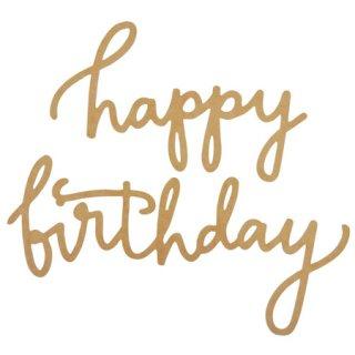 MDFボード切文字 - Happy Birthday