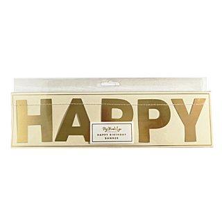 HAPPY BIRTHDAY バナー GOLD  - My Minds Eye