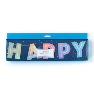 HAPPY BIRTHDAY バナー HOLOGRAPHIC  - My Minds Eye