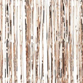 ローズゴールド フォイル フリンジカーテン 91cmx245cm - Ginger Ray