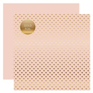 12インチペーパー  - FOIL DOTS・GOLD/BLUSH
