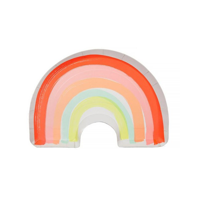 Rainbow ペーパープレート (12枚入)  - Meri Meri
