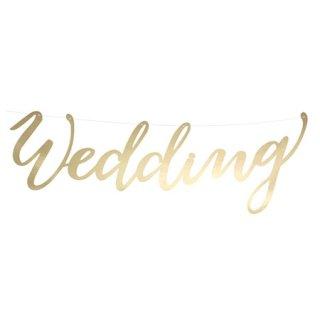 スクリプトバナー Wedding ゴールド