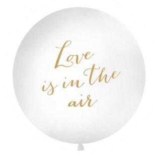 特大バルーン Love is in the air White×Gold